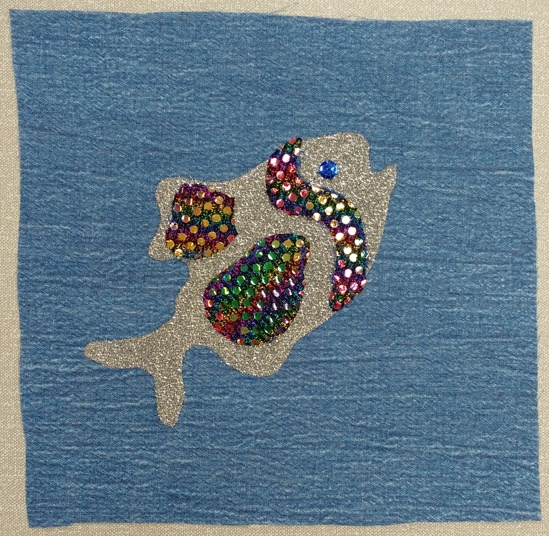 sparkly fish square by Carolanne