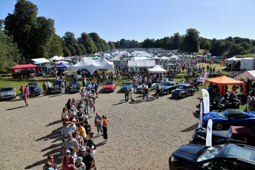 aerial view of village fete